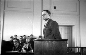 Witold Pilecki during his trial, Warszawa, 1948-03-03, his last days