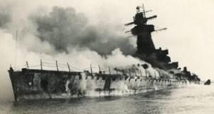 German Battleship sank by Jerzy Iwanow-Szajnowicz