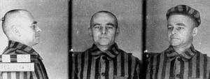 Auschwitz concentration camp photos of Pilecki (1941).